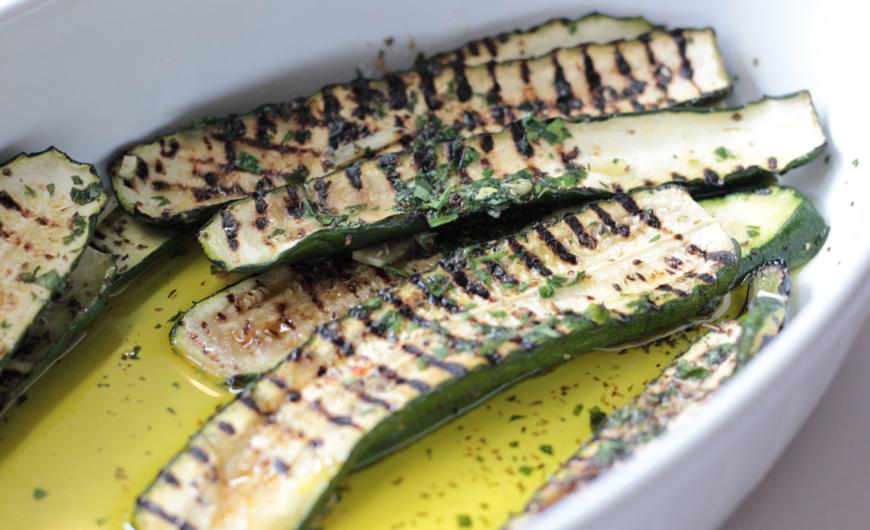 Restaurant Frankfurt Atelier - Fischrestaurants Frankfurt - Eingelegte Zucchini Delikatesse